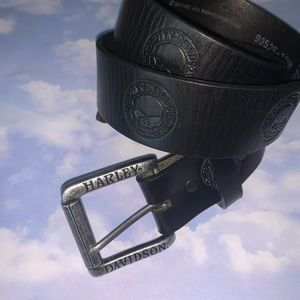 HARLEY DAVIDSON Black Skull Belt